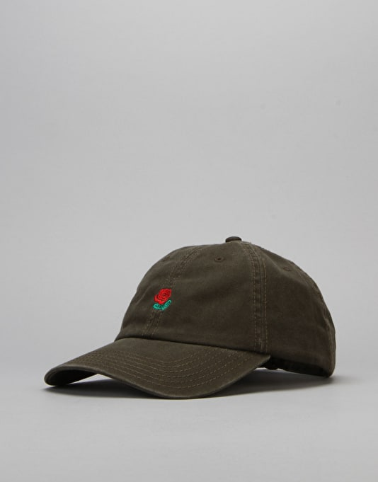 The Hundreds Rose Strapback Cap - Olive