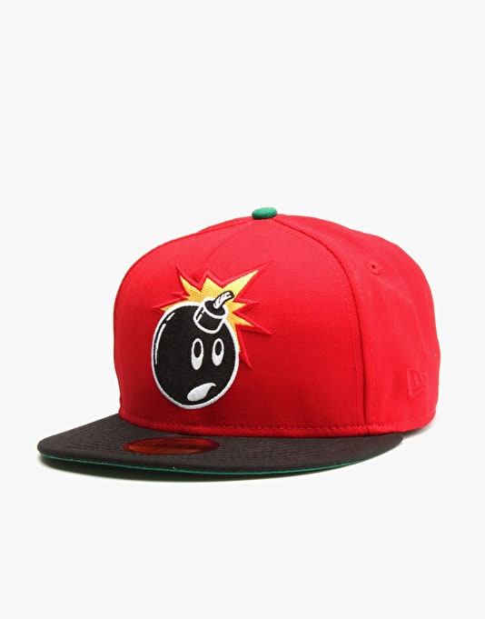 The Hundreds x New Era Adam 59Fifty Fitted Cap - Red