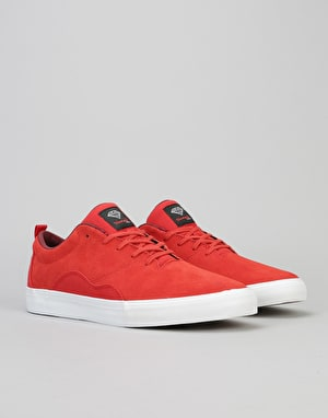 Diamond Supply Co. Lafayette Skate Shoes - Red Suede