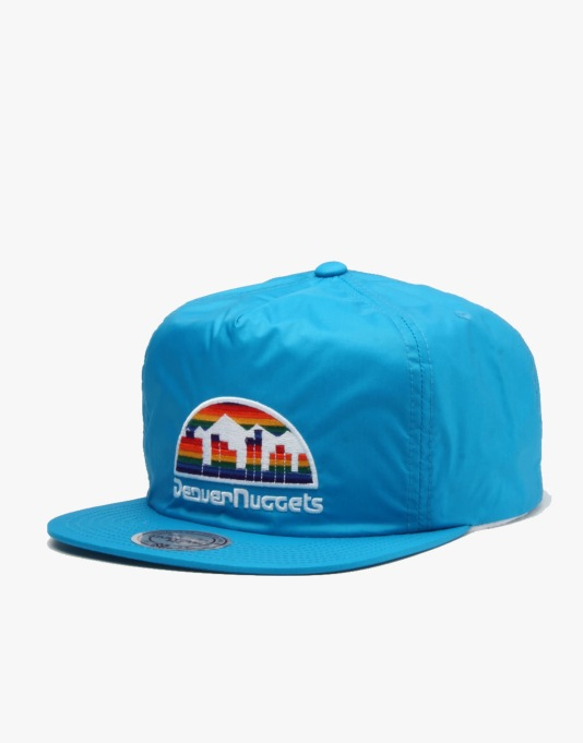 Mitchell & Ness NBA Denver Nuggets Neon Pinch Snapback Cap - Blue