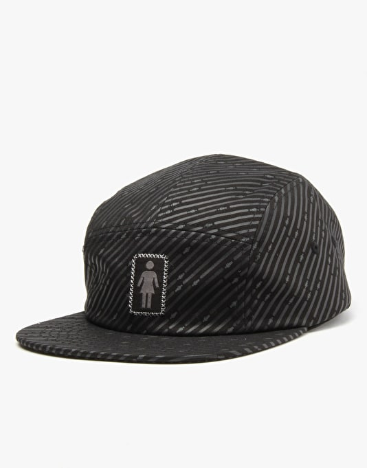 Girl Oh G's Tonal 5 Panel Cap - Black