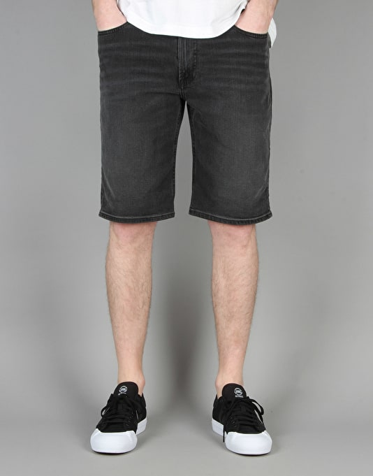 DC Worker Straight Denim Shorts - Black Stone