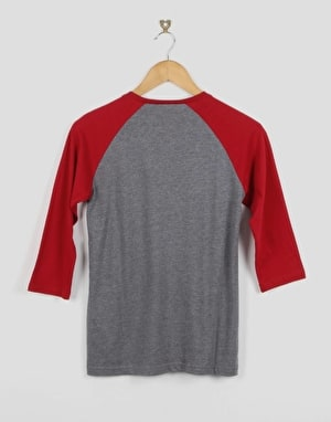 Vans OTW Raglan Boys T-Shirt - Heather Grey/Cardinal