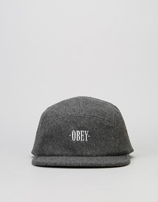 Obey Times 5 Panel Cap - Heather Grey