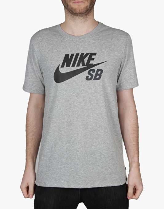 Nike SB Icon Reflective T-Shirt - Dk Grey Heather/Black