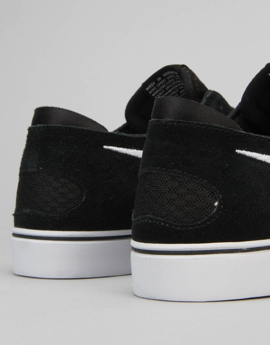 Nike SB Zoom Oneshot Skate Shoes - Black/White-Gum Light Brown