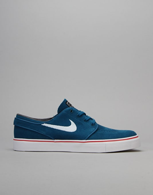 Nike SB Air Zoom Stefan Janoski Skate Shoes - Grn Abyss/White-Red-Blk
