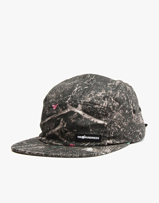 The Hundreds Char 5 Panel Cap - Burnt Camo