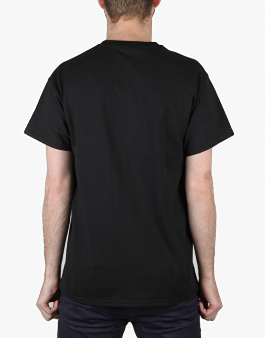 Thrasher Blackout T-Shirt - Black/White