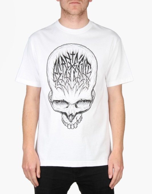 Rebel8 Skull Scribe T-Shirt - White