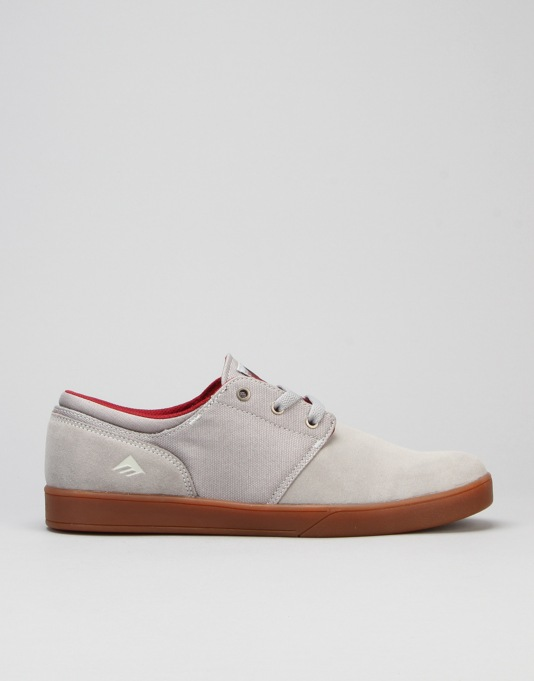 Emerica The Figueroa Slip On Skate Shoes - Grey/Gum