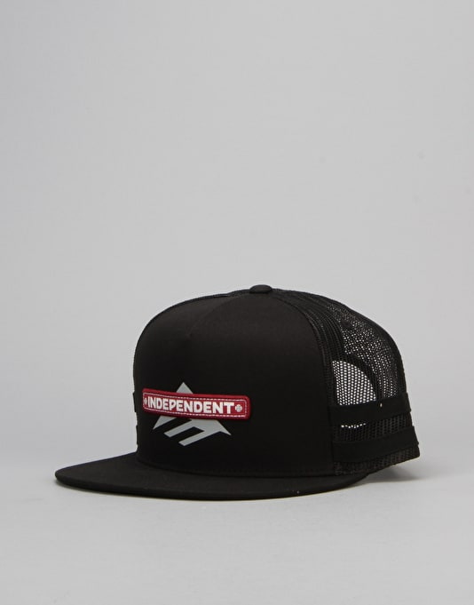 Emerica x Independent Trucker Hat - Black