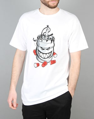Spitfire Party On T-Shirt - White
