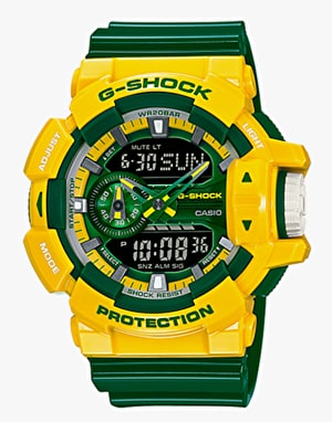 G-Shock GA-400CS-9A Watch - Crazy Sports Yellow