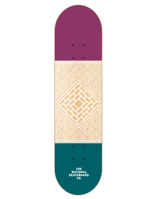 The National Skateboard Co. Division Team Deck - 8.25""