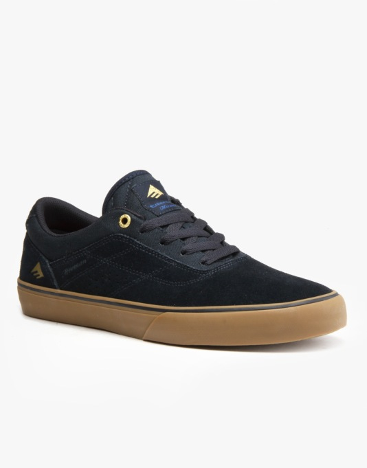 Emerica The Herman G6 Vulc Skate Shoes - Navy/Gum