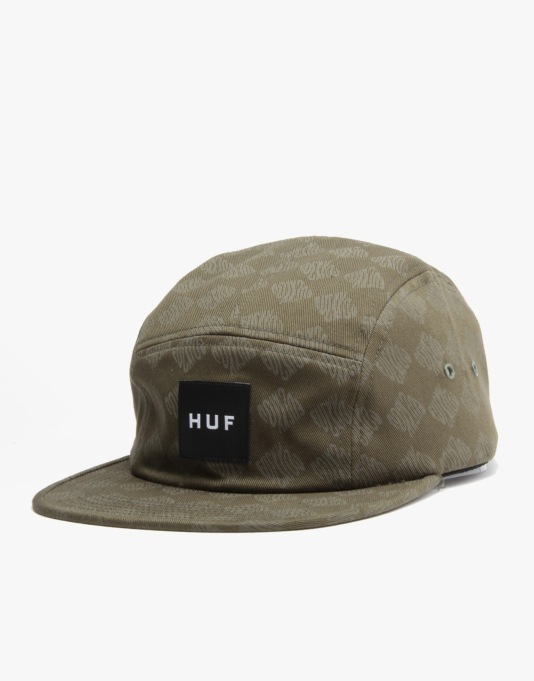 HUF Luxe Volley 5 Panel Cap - Olive