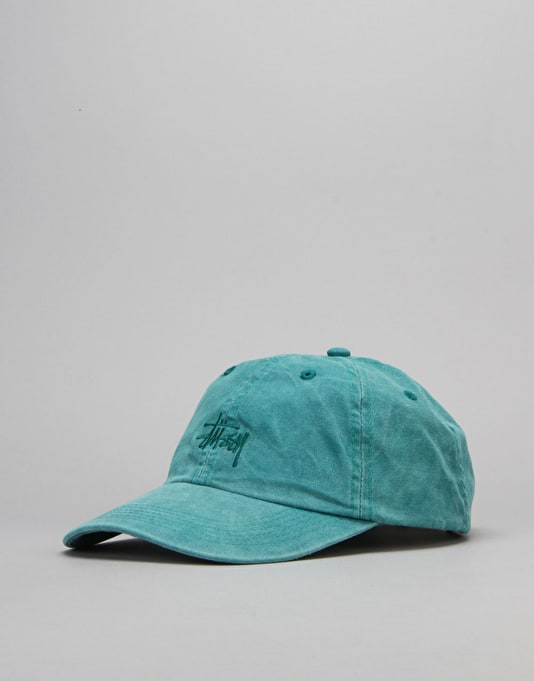 Stüssy Smooth Stock Enzyme Wash Cap - Teal
