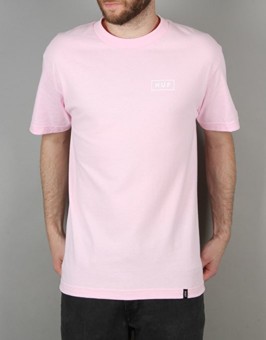 HUF Bar Logo T-Shirt - Pink/White