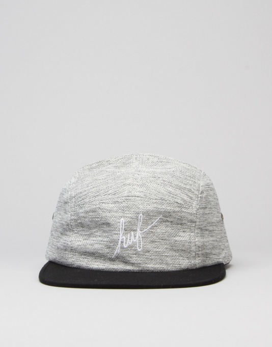 HUF Heathered Pique Volley 5 Panel Cap - Black