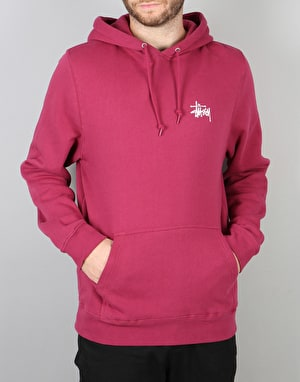 Stüssy Basic Stüssy Pullover Hoodie - Grape