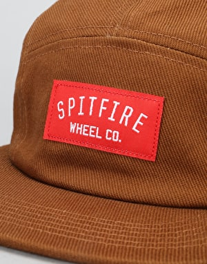 Spitfire Wheel Co. 5 Panel Cap - Burnt Umber