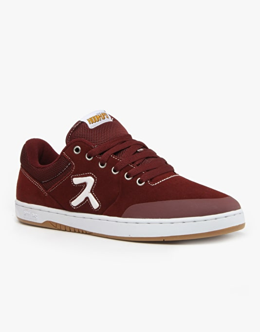 Etnies x Hook Ups Marana Skate Shoes - Burgundy