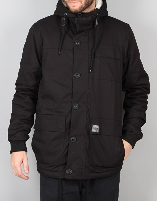 Route One Parka Jacket - Black
