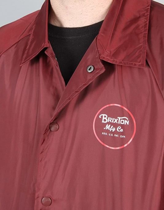 Brixton Wheeler Windbreaker Jacket - Burgundy