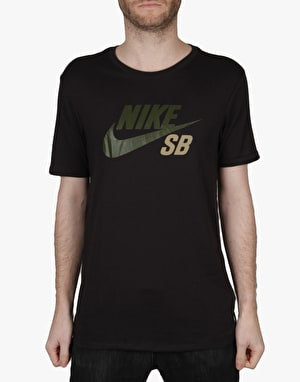 Nike SB Icon Reflective T-Shirt - Black/Cargo Khaki