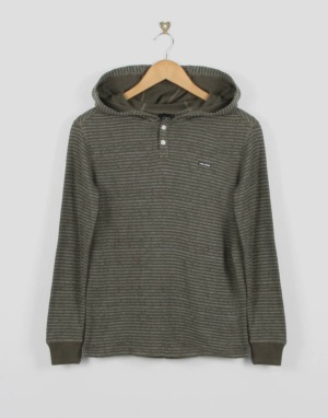 Volcom Omaha Thermal Boys Pullover Hoodie - Frost Grey