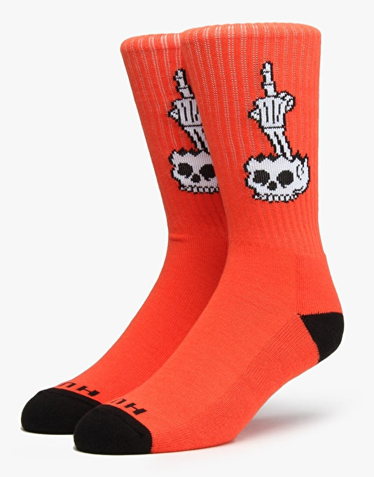 HUF x Todd Francis Fuckhead 6 Crew Socks - Orange