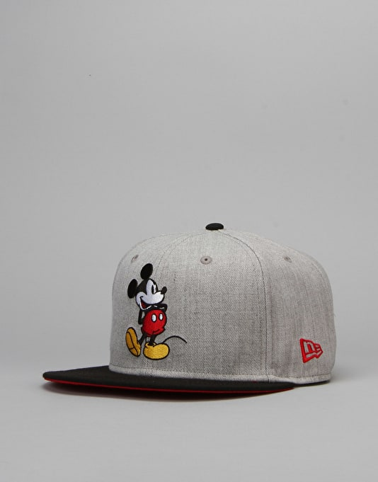 New Era x Disney Mickey Mouse Classic Snapback Cap - Heather Grey