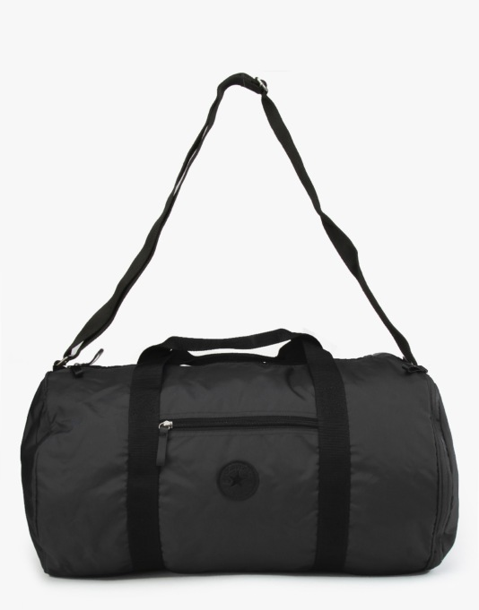 Converse Classic Nylon Barrel Duffel Bag - Black