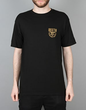 Brixton Alliance S/S T-Shirt - Black/Gold