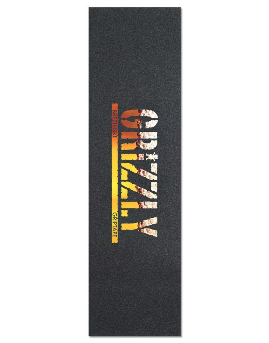 "Grizzly Brezinski Stamp Pro 9"" Grip Tape Sheet - Black/Brew"