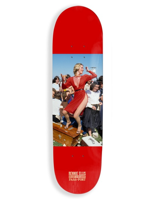 Pass Port x Rennie Ellis Lady in Red Team Deck - 8.38""