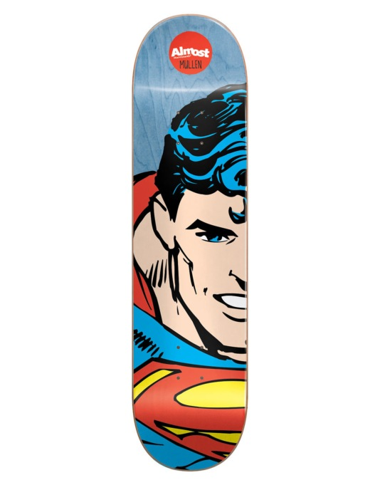 Almost x DC Comics Mullen Superhero Splitface Skateboard Deck - 8.125""
