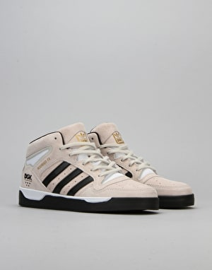 Adidas x DGK Locator Mid Skate Shoes - Mist Stone/Core Black/White