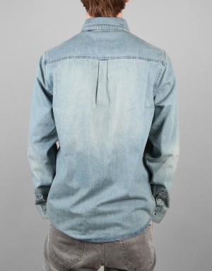 Altamont Peyote Zefer Denim L/S Shirt - Used Wash