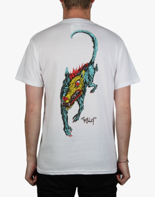 Welcome Miller Beast T-Shirt - White/Teal