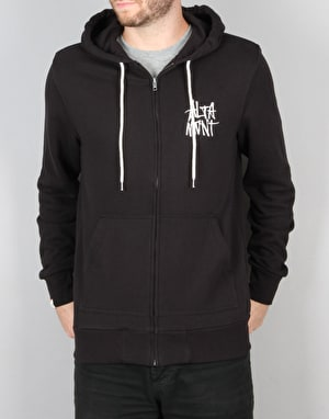 Altamont Stacked Logo Zip Hoodie - Black/White