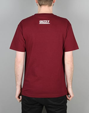 Grizzly OG Bear Logo T-Shirt - Burgundy
