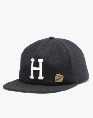 HUF Home Field Wool Strapback Cap - Navy