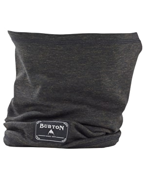 Burton DriRelease Wool Neck Warmer Facemask - True Black Heather