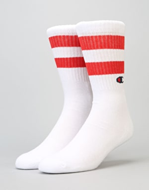 Champion Tube Crew Socks - WHT