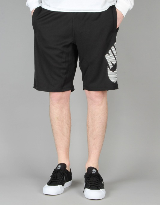Nike SB Dri-FIT Stripe Sunday Sweat Shorts - Black/White