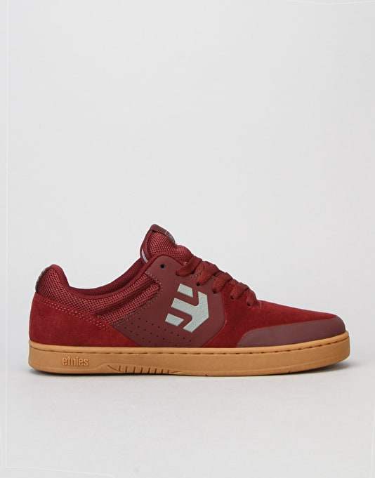 Etnies Marana Skate Shoes - Burgundy/Tan