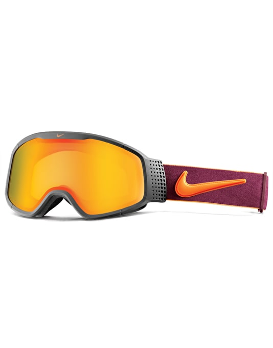 Nike SB Mazot 2016 Snowboard Goggles - Khaki/Orange/Red - Yellow Red