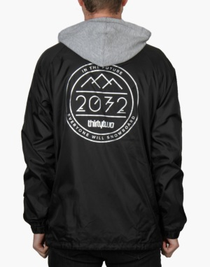 Thirty Two 2032 Hooded Coach 2016 Snowboard Jacket - Black